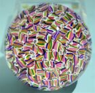 Baccarat Millefiori Multi Color Art Glass Paperweight Candy Canes 20th Century
