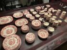 Royal Staffordshire Tonquin red/pink Clarice Cliff 115 Piece Large Set