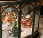 Illuminated Lantern with Interior Holiday Scene by Valerie Nativity