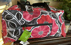 New Vera Bradley Duffle Collapsible Cherry Blossoms ECU New 48