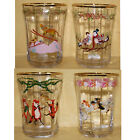 Anthropologie Inslee Fariss 12 Days of Christmas Menagerie Juice Glass Cup Set