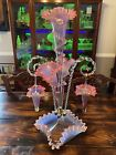 Antique Victorian Epergne With Hanging Baskets