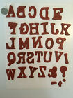 Alphabet upper  lower  Numbers unmounted rubber stamp set used rare
