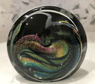 Gorgeous Rollin Karg Dichroic Studio Art Glass Sculpture Dated 2007