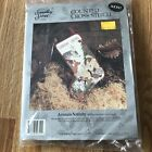 Candamar Animals Nativity 50751 Counted Cross Stitch Stocking Kit Sealed 1993