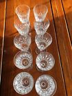 WATERFORD CRYSTAL LISMORE WATER GOBLETS 6 7 8 EXCELLENT I Have 9 Glasses