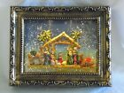 RAZ IMPORTS Cache Nativity Lighted Motion Water Frame