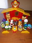 Veggie Tales Nativity Set Light Up Plays Song Away In The Manger