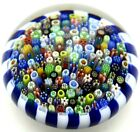 LARGE Magnificent PARABELLE Stave Basket MILLEFIORI CANES Art Glass PAPERWEIGHT