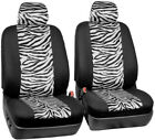 Universal Leopard Car Seater Covers Auto Suv Truck Protector Plush Cushion Set