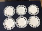 Vintage Milk Glass Retickulated Plate 9 Qty of Six
