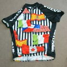 Vtg Volvo Cannondale Mountain Bike Racing Cycling Jersey Large Flags