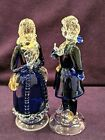 Vintage Pair Venetian Murano Glass Couple Signed Atelier