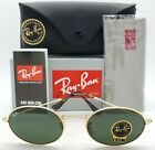 NEW Rayban Oval Sunglasses RB3547N 001 54mm Gold Classic G15 AUTHENTIC Round