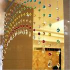 Set of 10 Multicolor Strings Bead Of Acrylic Crystal Curtain with Original Glass