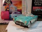 FRANKLIN MINT 1956 CHEVY CORVETTE124RARE COLORNOSDOCSUNDISPLAYEDMINT