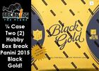 Dallas Cowboys 2015 Black Gold Football BREAK 1 4 CASE 2 hobby boxes!