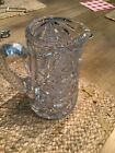 Hawked cut glass brilliant pitcher good condition