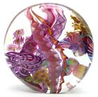 LARGE Splendid JAMES NOWAK Colorful DICHROIC ABSTRACT Art Glass PAPERWEIGHT 58