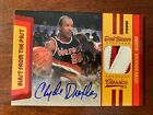 2009-10 Clyde Drexler Panini Classics Blast from the Past PATCH PRIME Auto 22 25