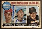 Signed Jim Bunning Fergie Jenkins Gaylord Perry 1968 Topps #11 Auto Autograph