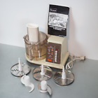 Vintage Sears Counter Craft 7 Speed Food Processor with Attachments