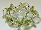 Vintage Italian Murano Art Glass Cigar Ashtray Clear Candy Dish Bowl Bubbles