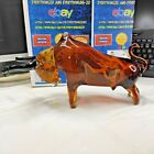 Vintage Large Murano Art Glass Bull Fightier Ready Cristalleria DArte