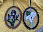 Stained Glass Real leaded Iris Lily