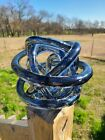 Abstract Blown Glass Knot Sculpture Modern Art 7