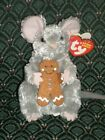 TY Beanie Baby * STIRRING * Mouse with Gingerbread * 5