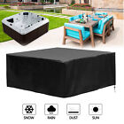 Heavy Duty Waterproof Hot Tub Cover Outdoor SPA Cover Dustproof Anti UV 94x94in