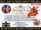 NEW 2021 LEAF ULTIMATE DRAFT Football HOBBY Box Pre Sell🔥 March Release!!