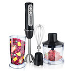 Powerful 1000W 4 in 1 Hand Immersion Blender Set 12 Speeds 304 Stainless Stick