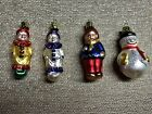 EUC Vintage Christborn Set Of 4 Handblown Christmas Ornaments Germany