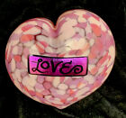 Mad Art Dichroic Art Glass Conversation LOVE pink Heart Paperweight Signed