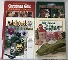 +Plastic Canvas Pattern Books Lot 4 Tissue Toppers Christmas Gifts Make It Quick