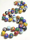Vintage Mosaic Murano Glass Bead Hand Knotted Beaded Necklace