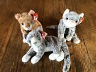 Ty Beanie Babies Mattie Purr Silver With Tags Lot Of 3