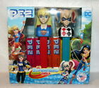 Pez DC Superhero Girls Super Girl and Harley Quinn In Box with Pez