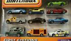 MATCHBOX 10 CAR GIFT PACK FIRST EDITIONS FORD INTERCEPTOR POLICE CAR CADILLAC