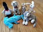 Ty Beanie Babies lot of 6 Tricks Purr Nibbler Rumba Sledge Loosy