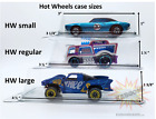ANY SIZE Hot Wheels Plastic Car Cases containers NEW clamshells 1 64 diecast