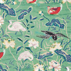 Schumacher Lotus Garden Jade Fabric for Cushions Upholstery and Curtains