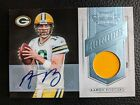 2011 PLATES & PATCHES AARON RODGERS AUTOGRAPH GAME JERSEY GREEN BAY PACKERS 1 1