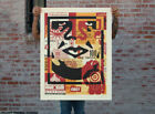 COLLAGE ICON BOTTOM  LARGE FORMAT  SIGNED NUMBERED  OBEY  SHEPARD FAIREY