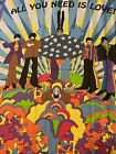 The Beatles Panel 35x42 Cranston ALL YOU NEED IS LOVE Cotton quilt fabric