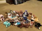 Ty Beanie Babies Lot Of 30 Crunch Waves Fraidy Ears Valentino Dragon Hairy Sting