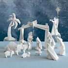 Porcelain Origami Nativity Set of 15 Individual Pieces in a 3 Box Set