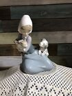 Retired LLADRO FIGURINE Little Friskies #5032 Girl with Dog And Cat Spain